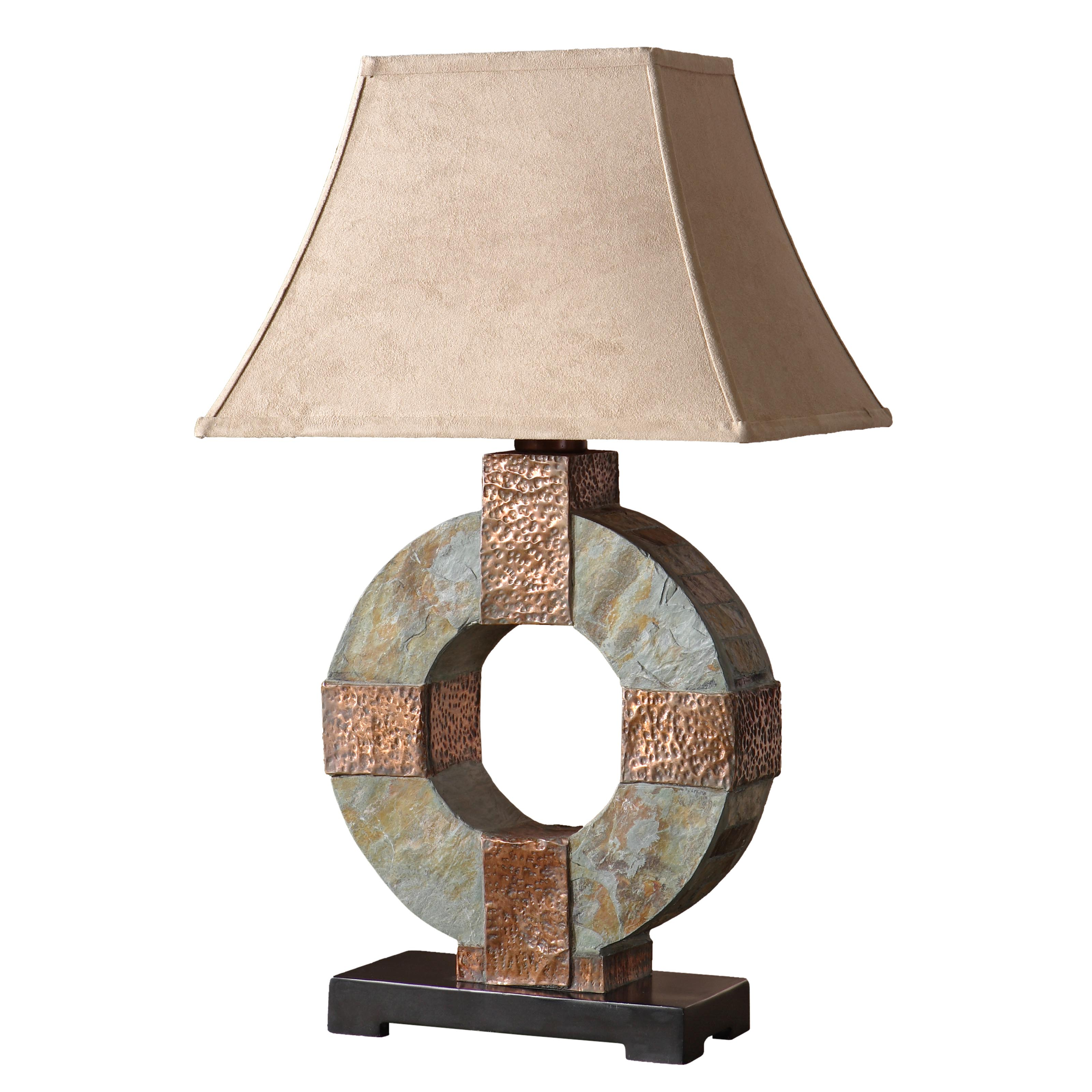Outdoor Table Lamp Led: Uttermost Slate Outdoor Table Lamp