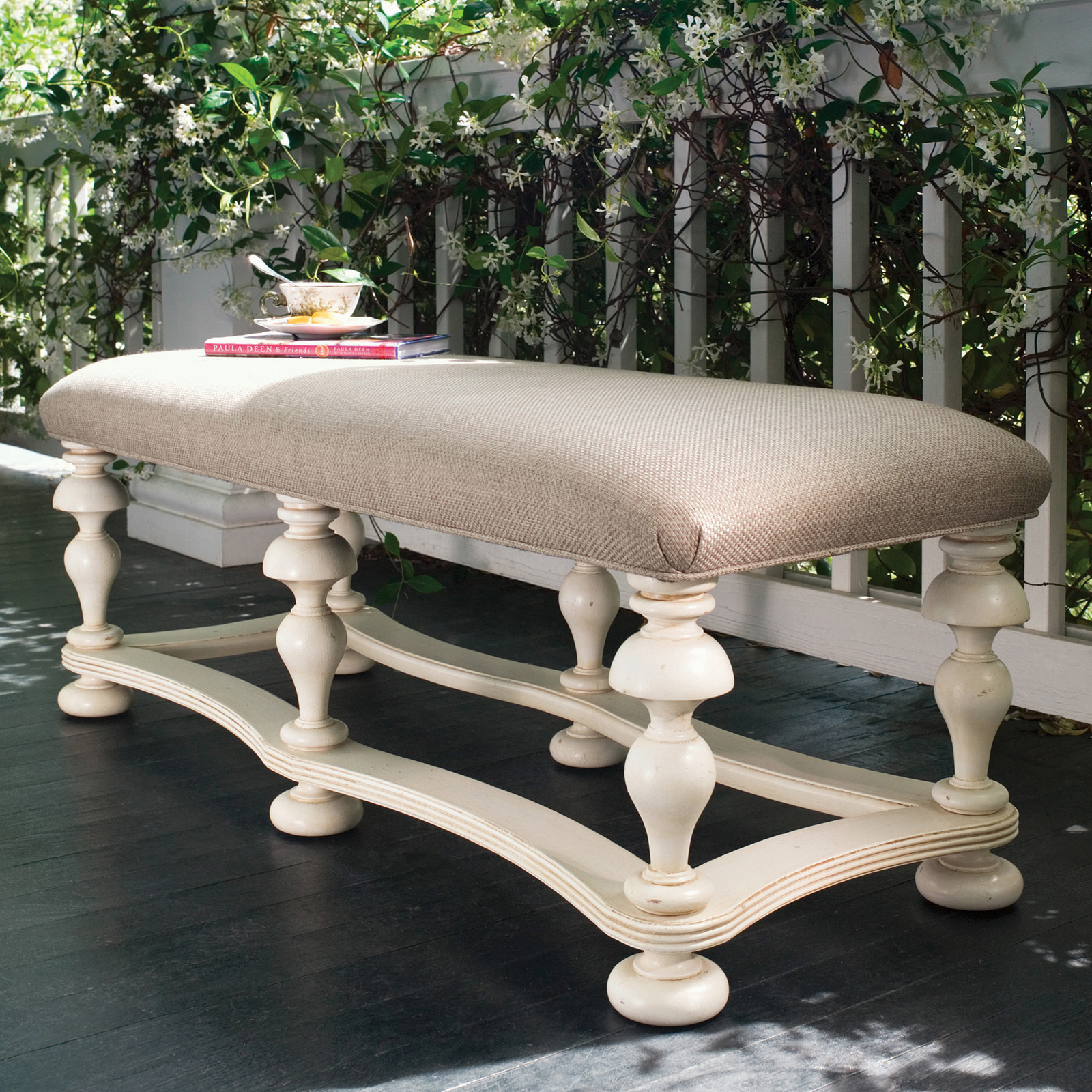 Paula Deen Home Bed End Bench Linen Bedroom Benches At