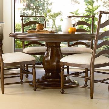 Paula Deen River House Round Pedestal Dining Table River Bank 126 968