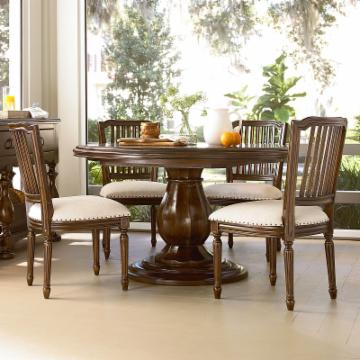 Paula Deen River House Round Pedestal Dining Table River Boat 126 968