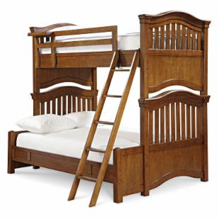 Classic 4.0 Saddle Brown Twin over Full Bunk Bed