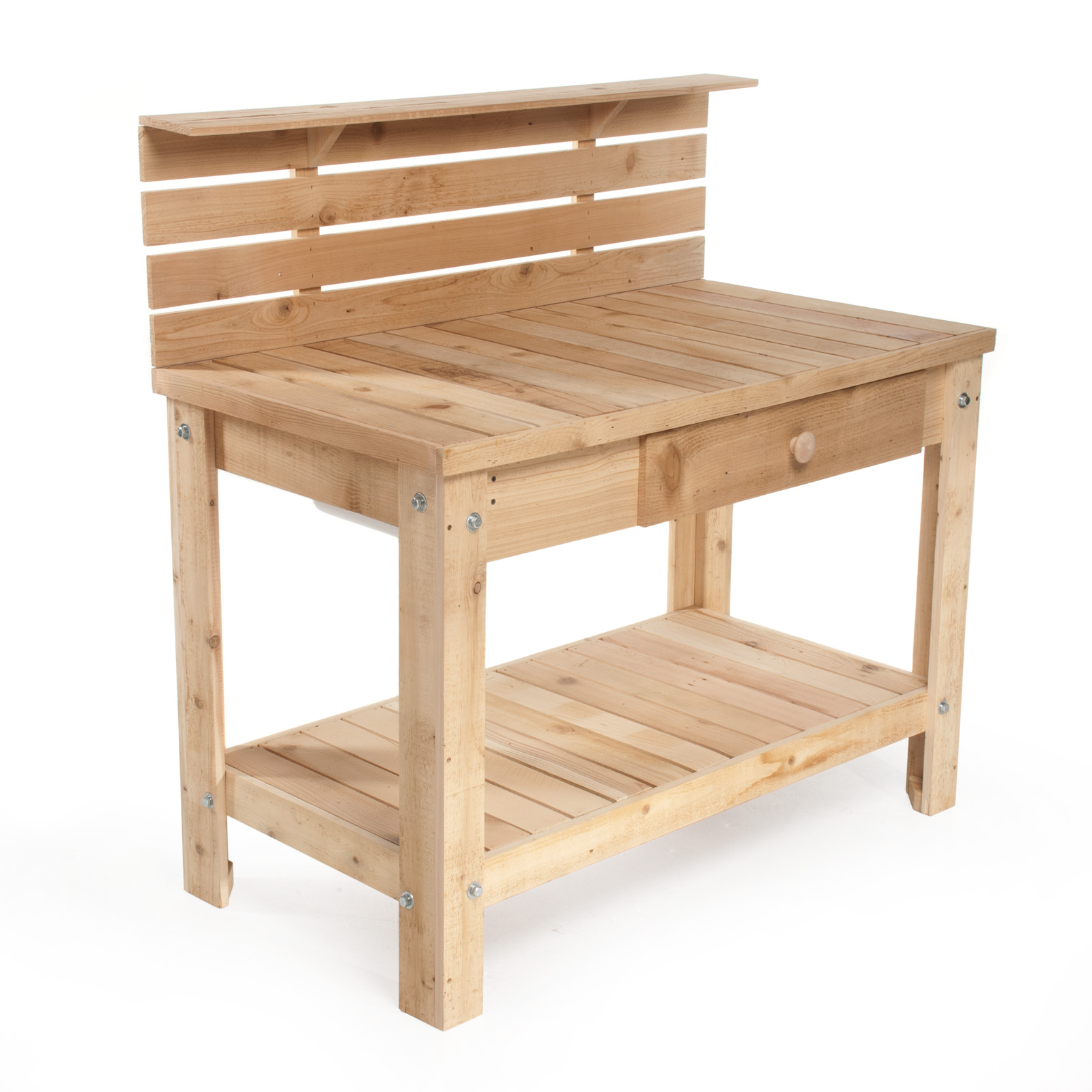 Reclaimed Cedar Wood Deluxe Buffet And Potting Bench Potting Benches At Hayneedle
