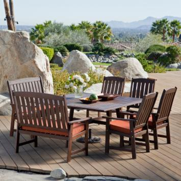  Cabos Collection Square Patio Dining Set - Seats 8