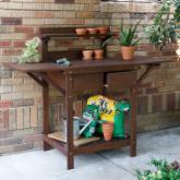  Cabos Durable Eucalyptus Wood Potting Bench