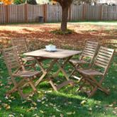  Newbury 5pc Deluxe Folding Outdoor Bistro Dining Set