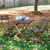  Catalina 3pc Folding Outdoor Bistro Set