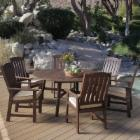  Cabos Collection Round Patio Dining Set - Seats 6