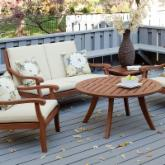  Arbor Collection Wood Conversation Set - Seats 4