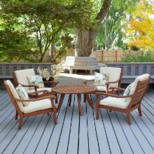  Arbor Collection Wood Chat Set - Seats 4