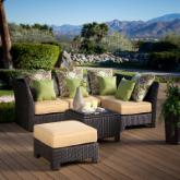  Fiji Bay All-Weather Wicker Sectional Conversation Set - Seats 4