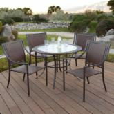  Monterey Wicker Cafe Dining Set - Seats 4
