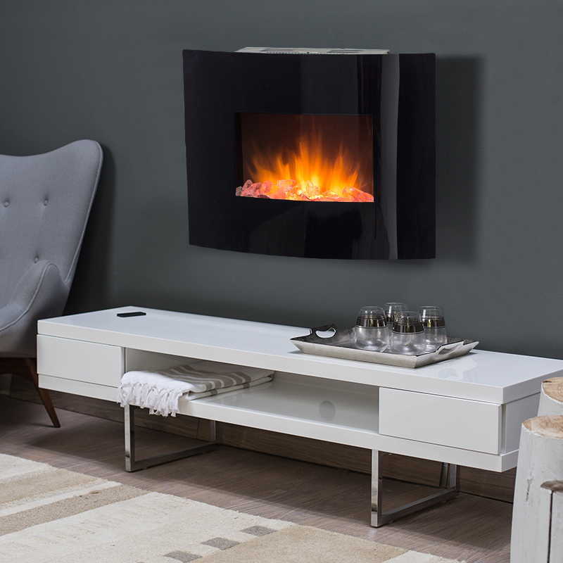 Springfield Wall Fireplace With Glass Fuel Bed