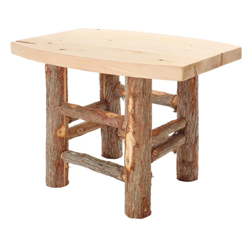 vermont cedar irie natural wood side table at hayneedle. Black Bedroom Furniture Sets. Home Design Ideas