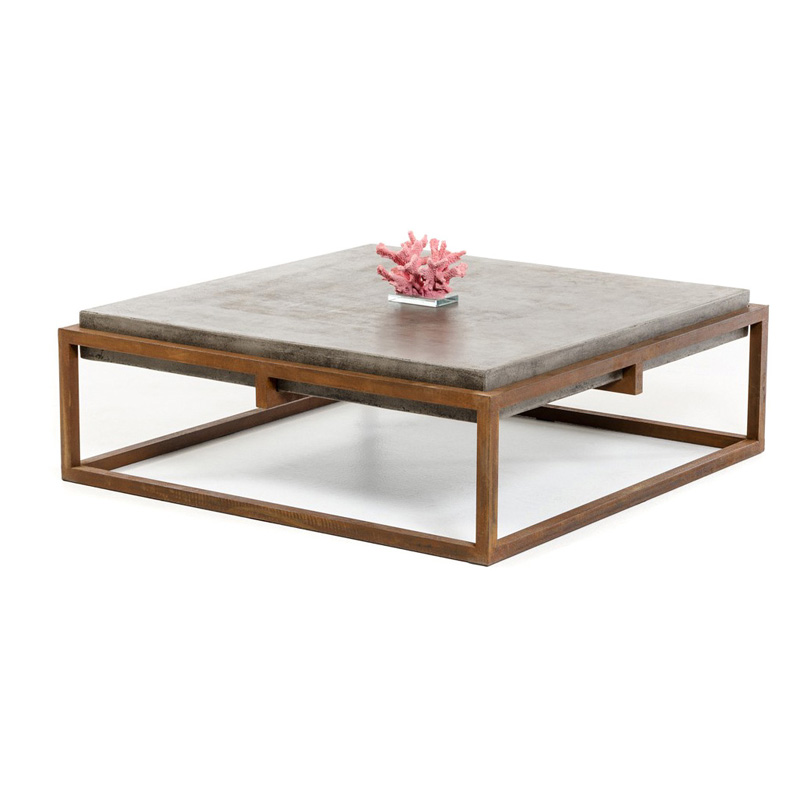 Modrest Upton Modern Square Glass Coffee Table Coffee: Modrest Shepard Square Coffee Table