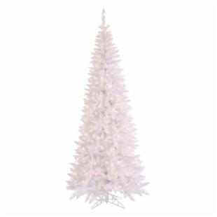 Vickerman White Slim Fir Clear Pre-lit Christmas Tree