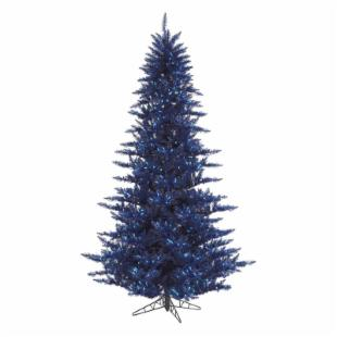 Vickerman Dark Blue Fir Pre-lit Christmas Tree