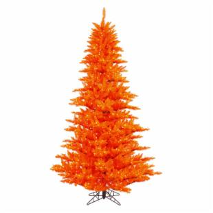 Vickerman Orange Fir Pre-lit Christmas Tree