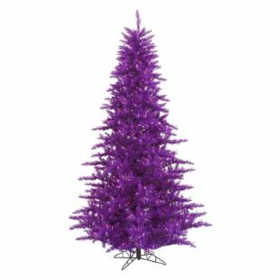 Vickerman Purple Fir Pre- Lit Christmas Tree