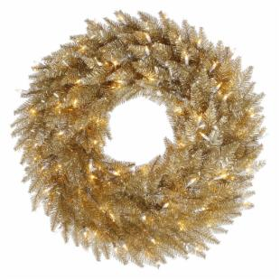 Vickerman Champagne Pre-lit Wreath