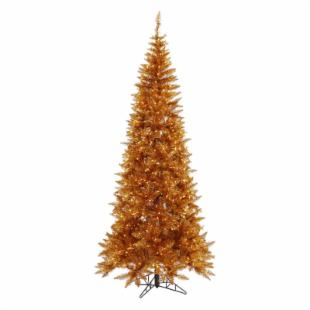 Vickerman Copper Slim Fir Pre-lit Christmas Tree