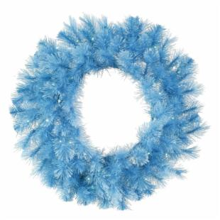 Vickerman 30 diam. in. Baby Blue Dura-Lit Cashmere Wreath