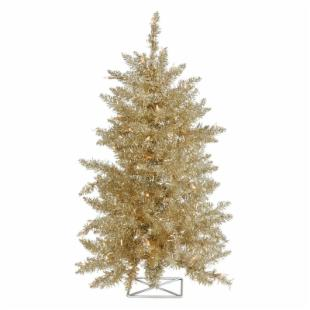 Vickerman 3 ft. Champagne Pre-lit Christmas Tree