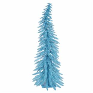 Vickerman Sky Blue Whimsical Christmas Tree