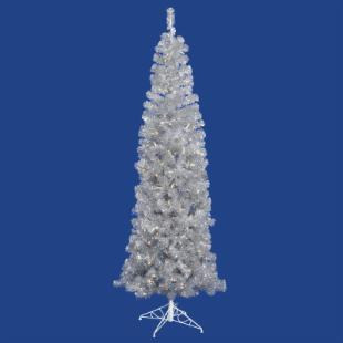 Vickerman Silver Pencil Christmas Tree