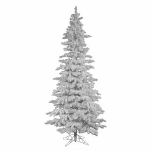 Vickerman Flocked White Slim Unlit Christmas Tree