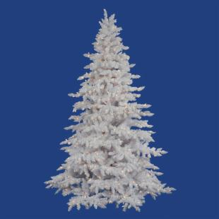 Vickerman Flocked White Spruce Clear Pre-lit Christmas Tree