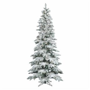 Vickerman 6.5 ft. Flocked Slim Utica Fir Dura-Lit Christmas Tree