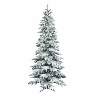 Vickerman 9 ft. Flocked Slim Utica Fir Christmas Tree