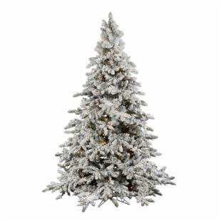 Vickerman 4.5 ft. Flocked Utica Fir Pre-lit Italian LED Christmas Tree