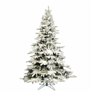 Vickerman 12 ft. Flocked Utica Fir Christmas Tree