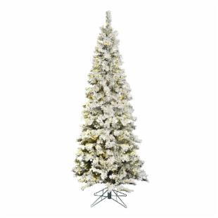 Vickerman Flocked Pacific Pre-lit LED Christmas Tree