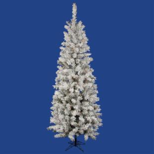 Vickerman Flocked Pacific Pre-lit Multi LED Christmas Tree