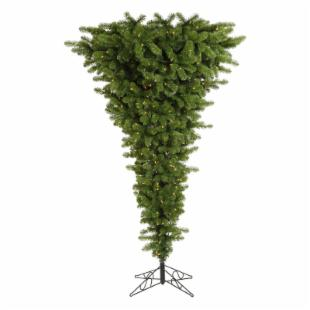 Vickerman Green Upside Down Clear Pre-lit Christmas Tree