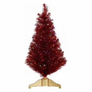 Vickerman 3 ft. Red Fiber Optic Christmas Tree