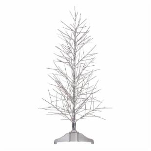 Vickerman 4 ft. Silver Fiber Optic Twig Tree