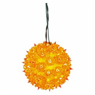 Vickerman Orange Twinkle Star Sphere - 50 Lights