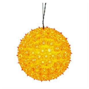 Vickerman Orange Twinkle Star Sphere - 150 Lights