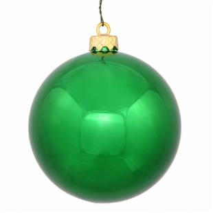 Vickerman 10 in. Green Shiny Ball