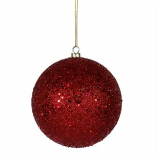 Vickerman 12 in. Red Sequin Finish Ball