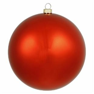 Vickerman 12 in. Red Shiny Ball