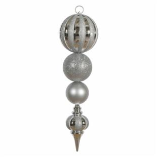 Vickerman 29 in. Silver Shiny and Matte Calabash