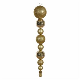 Vickerman 44 in. Gold Shiny and Matte Ball Drop