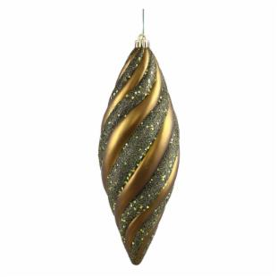 Vickerman 12 in. Olive Spiral Matte and Glitter - Set of 3