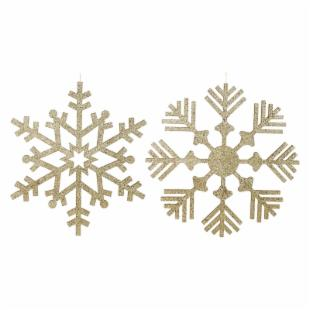 Vickerman 32 in. Gold Glitter Snowflake Assorted