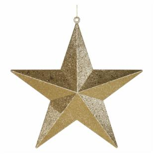 Vickerman 20 in. Gold Glitter Star