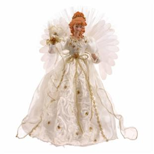 Vickerman 18 in. White and Gold Angel Fiber Optic Wings